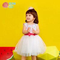贝贝怡女童装时尚背心裙长裙夏季新款洋气公主裙女宝裙装182Q113