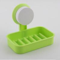 浴室强力吸盘肥皂盒 沥水香皂盒肥皂架 绿色