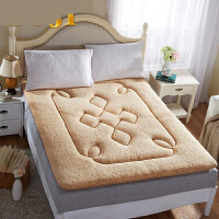 加厚榻榻米羊羔绒床垫学生宿舍垫被单人双人1.5/1.8m软海绵床褥子