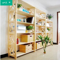 实木置物架书架书柜多层木架子储物架格架货架展示架松木