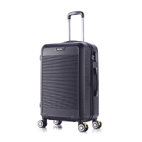 硬箱拉杆箱三尺寸同价拉杆箱旅行箱学生万向轮行李箱密码登机箱 黑色色 A817