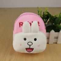 大白手机包手腕包可爱小包包小零钱包儿童斜挎包挂脖包臂包女 乳白色 中号-小白兔