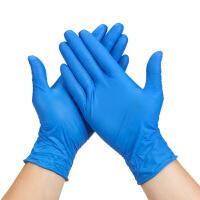 一次性乳胶手套耐磨加厚白pvc橡胶防水丁腈胶皮塑胶pvc塑料透明家用100只