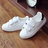 童鞋春季儿童小白鞋男童魔术贴白色板鞋女童运动球鞋
