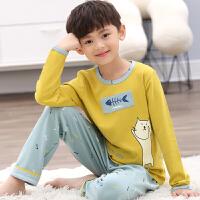 儿童睡衣男童春秋夏季薄款长袖男孩5-8-11-14岁中大童家居服套装