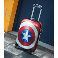 美国队长PC拉杆箱复古旅行箱男女行李箱20寸24寸密码箱万向飞机轮