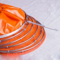 尼龙鱼护胶丝双圈不锈钢涂胶防挂爆速干竞技台钓装渔网兜包