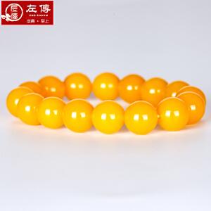 左传 黄玛瑙手串 玛瑙手链 黄色玛瑙手串 玛瑙饰品 12mm 16颗 黄色