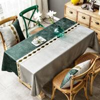 北欧桌布轻奢高档餐桌布布艺家用长方形ins茶几台布简约现代定制