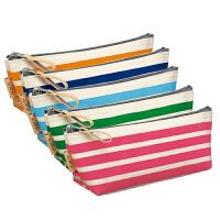 日本国誉 KOKUYO 时尚条纹纯棉帆布笔袋 5色可选
