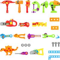 宝宝修理工具螺丝刀电钻过家家玩具男孩礼物儿童恐龙维修工具套装