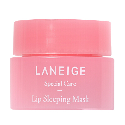 兰芝(LANEIGE)夜间保湿修护唇膜3g小样 满100减5,满200减10