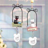 新奇特小挂件zakka门窗装饰黑白猫铃铛情侣风铃 学生生日礼物
