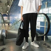 薄款卫裤男士韩版休闲裤学生夏季新款港风潮流色运动裤