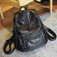 旅行包大号女士双肩包女2018新款韩版大容量背包女书包 黑色