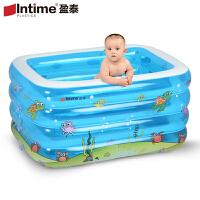 盈泰充气婴儿游泳池家用游泳桶浴缸浴盆幼儿童宝宝戏水保温加厚款