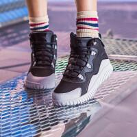 安踏棉鞋女鞋冬季新款加�q加厚高�捅E�防滑�\�有�女12848907