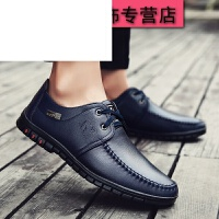 男士休闲鞋夏季新款男士商务休闲皮鞋男士青少年英伦系带鞋子男士皮鞋透气