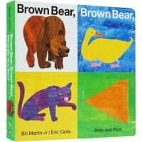 【英文原版】Brown Bear, Brwon Bear, What Do You See?大本翻翻找找书纸板书