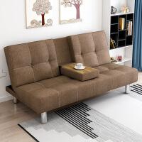 布艺沙发床宜家家居小户型单人双人卧室折叠沙发旗舰店官方