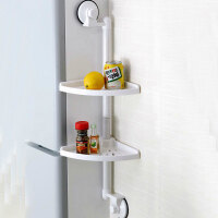 双庆 1808吸盘免打孔厨房置物架壁挂厨房挂件调味架物流厨房置物架