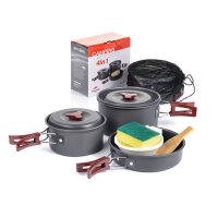 户外野餐烧烤用品户外野营锅具炊具便携组合套锅餐具 2-3人