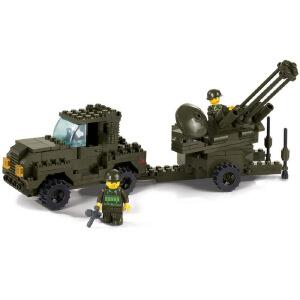 【当当自营】小鲁班陆军部队军事系列儿童益智拼装积木玩具 防空炮M38-B7300