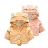 婴儿衣服装0岁6个月2宝宝上衣3新生儿加绒加厚外套冬装新年