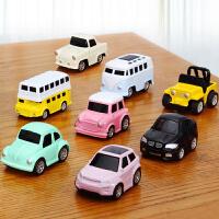 合金回力车小汽车玩具男孩女孩1-2-3岁惯性儿童宝宝玩具车套装