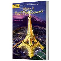 埃菲尔铁塔在哪里 英文原版 Where Is the Eiffel Tower 儿童桥梁章节书 中小学生读物 英文版