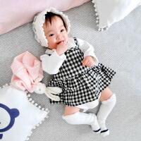 婴宝宝衣服儿童套装01岁3个月季衣服潮款春款新生儿外出服