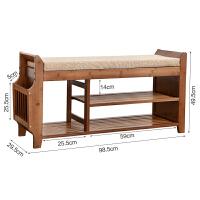 门口换鞋凳鞋柜进门穿鞋凳收纳凳简约现代实木创意多功能楠竹