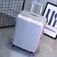 拉杆箱万向轮旅行箱24寸行李箱20寸登机箱男女密码箱 镜面款银色 镜面款