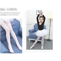 儿童连裤袜春秋季女童打底裤练功白色丝袜夏季薄款跳舞袜子舞蹈袜