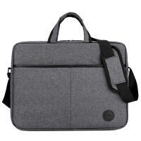 天天联想戴尔笔记本电脑包手提单肩电脑包14寸15寸16寸商务包 灰色戴尔(防水 防震 加厚)