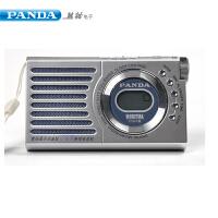 PANDA/熊猫6184A老人全波段老式台式收音机便携式迷你袖珍半导体小型fm调频老年人随身小广播电池式学生正品