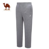 camel骆驼运动 春季休闲舒适情侣运动长裤 跑步健身直筒男女款卫