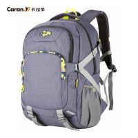 卡拉羊2016新款电脑双肩包男商务休闲背包运动学生书包CX5679