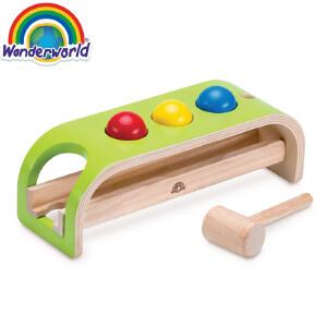[当当自营]泰国Wonderworld 滚球游戏 颜色启蒙 敲击锻炼 益智早教 木质玩具