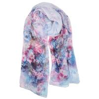 礼盒装两用长款纱巾送女友生日礼物法国春秋冬季女士丝丝巾围巾披肩