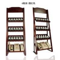 新款实木葡萄酒展示架红酒架陈列架摆架货木制架酒具立式落地酒柜