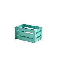 复古小木箱收纳箱摄影道具大储物箱水果箱无盖长方形装饰箱子定做 碧绿 中号