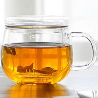 普润(PU RUN) 普润 玻璃泡茶杯 透明玻璃园趣三件杯温带过滤三件杯茶杯
