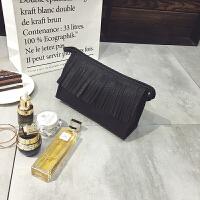 韩国女士化妆包小号便携手拿包大容量化妆品收纳包防水旅行洗漱包 大号黑色