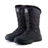 冬户外雪地靴女防水防滑中筒保暖滑雪鞋加绒棉鞋男东北旅游登山鞋