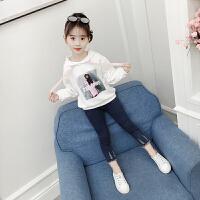 女童卫衣秋装韩版洋气儿童长袖上衣中小童春秋款女孩潮衣