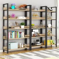 钢木书架落地简易铁艺置物架书柜储物架多功能墙壁货柜货架展示架