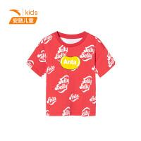 【到手价59】安踏儿童童装 糖豆T恤运动上衣3-6岁小童服短袖针织衫夏季官方旗舰362029147
