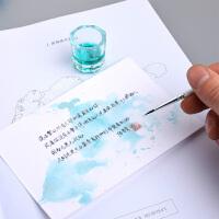 350g空白荷兰白卡纸DIY明信片染卡手绘书签贺卡水彩纸100张