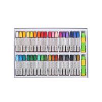 得力(deli)72053 36色 易上色油画棒 附握笔器和卷笔刀当当自营
